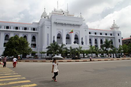goverment: Goverment building on the main square in Yangon, Myanmar