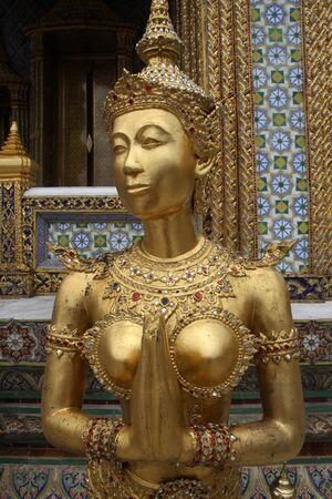 Golden girl in the Grand palace, Bangkok photo