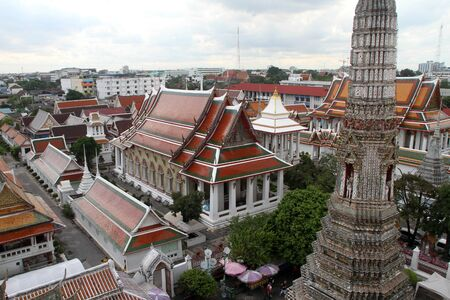 View from the prang in wat Arun in Bangkok, Thailand