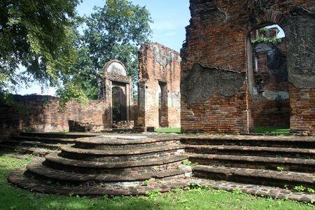 lop: Ruins of Chao Phraya Vichayen, Lop Buri, Thailand Stock Photo