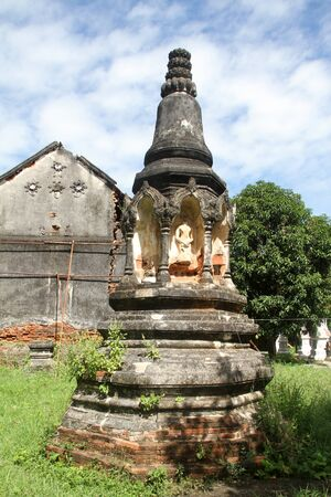 lop: Old ruins and ancient chedi in Lop Buri, Thailand Stock Photo