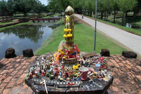 phallus: Phallus on the shrine in Sukhotai, Thailand Editorial
