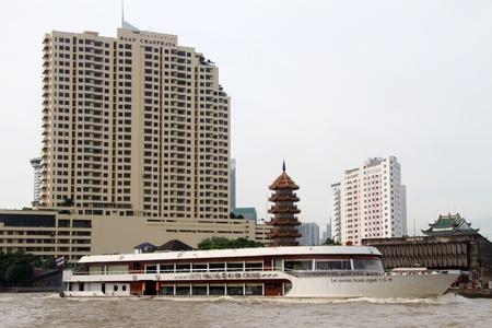 Hotel Baan Chao Phraya on the bank of river in Bangkok, Thailand