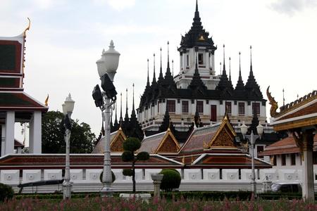 Iron temple Loha Prasat in Wat Ratchanatdaram Worawihan, Bangkok, Thailand photo