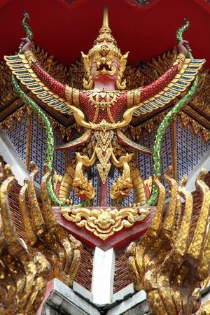 blissfull: Garuda on the wall of temple in wat Hualampong, bangkok, Thailand
