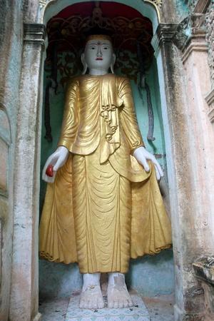 Standing Buddha in Hpo Win DaungCaves, Moniwa, Myanmar photo
