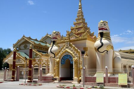 Entrance of buddhist paya in Moniwa, Myanmar photo