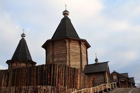 New wooden monastery buildings in Murmansk, Russia Stock Photo - 11352778