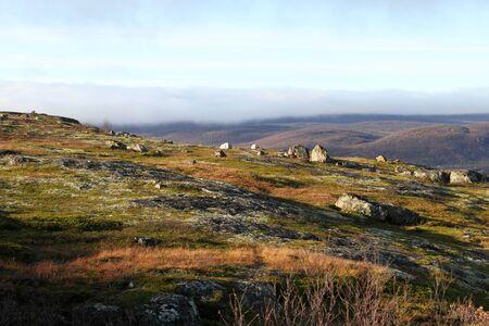 Autumn in mountain area near Murmansk, Russia Stock Photo - 11352720