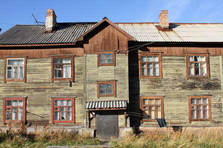 Old apartment building in Murmansk, Russia