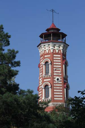 volgograd: Top of brick fire tower in Volgograd, Russia