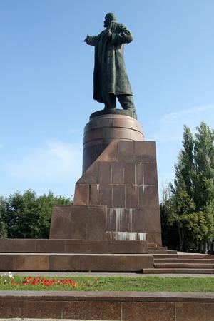 volgograd: Bronze statue of Vladimir Lenin in Volgograd, Russia