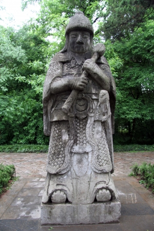 Charmant Stone Statue Of Chinese Warrior In The Garden Of Palace In Nanjing,.. Stock  Photo, Picture And Royalty Free Image. Image 13763126.