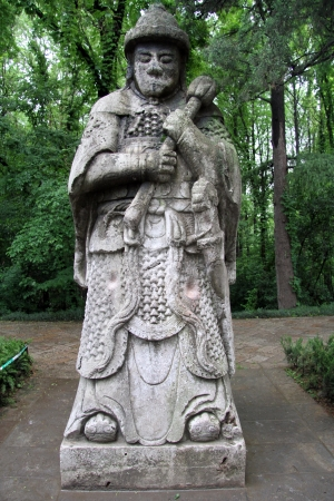 Stone Statue Of Chinese Warrior In The Garden, Nanjing, China Stock Photo,  Picture And Royalty Free Image. Image 13763154.