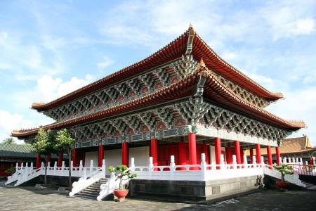 Corner of Confucius temple in Kaohsiung, Taiwan