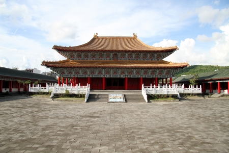 Iin the inner yard of Confucius temple in Kaohsiung, Taiwan Stock Photo - 13903336