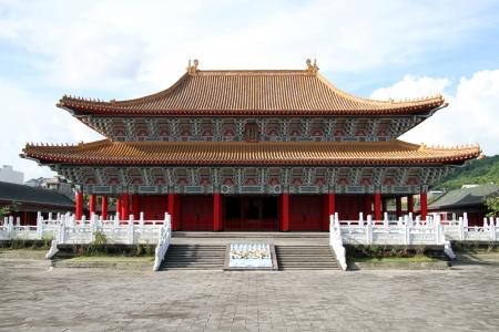 高雄、台湾で孔子廟のファサード