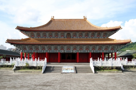 Facade of Confucius temple in Kaohsiung, Taiwan Stock Photo - 13903386