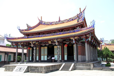 Old chinese Confucius temple in Taibei, Taiwan photo