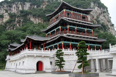 New Confucius temple and mount in Luzhou, China photo