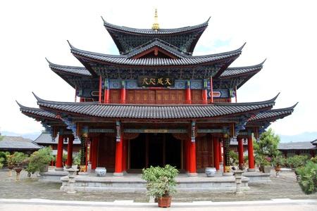 Old chinese pagoda in Lijiang, China Standard-Bild