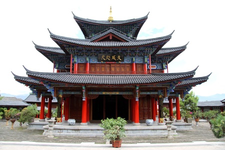 Old chinese pagoda in Lijiang, China Stock Photo