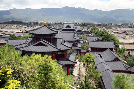 residencial: View from the hill in Lijiang, China
