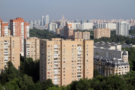 New residential district on the west part of Moscow, Russia