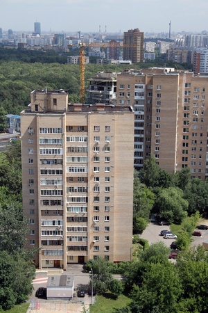 New high apartments in Moscow, Russia photo