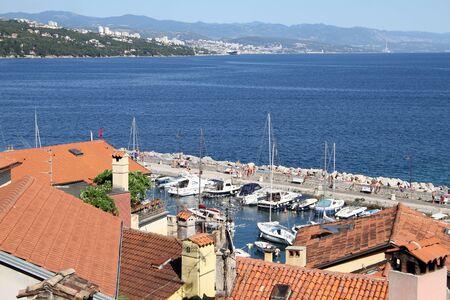 Harbor near Volosko in Kvarner, Croatia