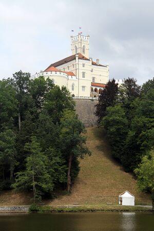 Castle Trakoshchan on the hill and lake, Croatia Stock Photo - 14816677