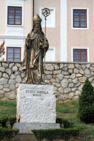 sain: Monument of Sain Nicholas near church in Krapina