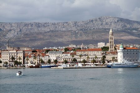 View of Split harbor from the sea, Croatia