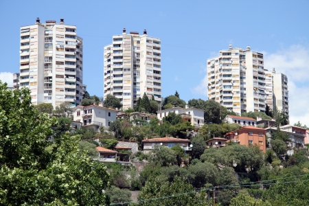 block of flats: New apartments on the hill in Rijeka, Croatia