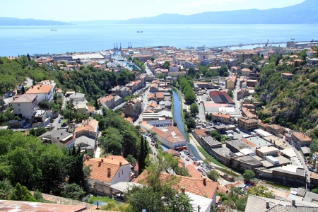 View from Trsat castle on the roofs of Rijeka, Croatia Stock Photo - 14987085