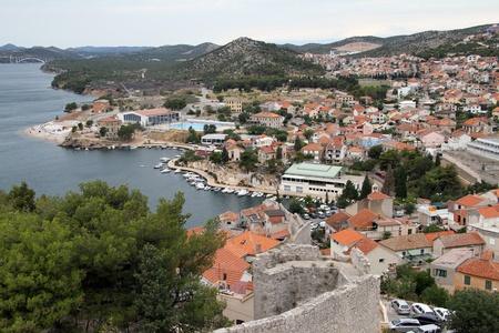 View from fortress on the city center of Shibenik, Croatia Stock Photo - 14987051