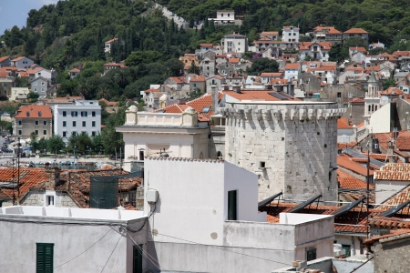 View from bell tower in the cebnter of Split, Croatia Stock Photo - 14988441