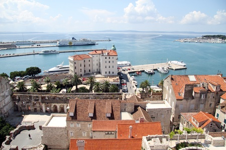 View from bell tower on the harbor Split, Croatia Stock Photo - 14986910