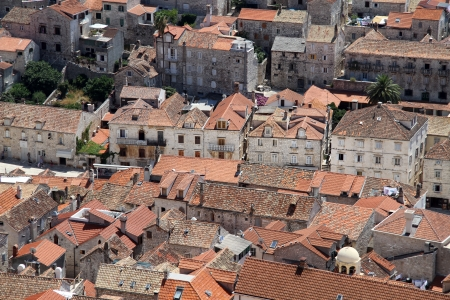 Roofs of houses in the center of Hvar, Croatia Stock Photo - 15004270