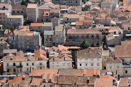 View on the roofs of Hvar from the fortress, croatia Stock Photo - 14988914