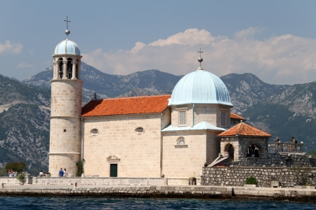 Church on the island near Perast in Boka Kotorska, Montenegro photo