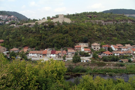 River and fortress in Veliko Tirnovo, Bulgaria photo