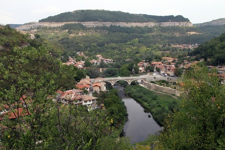 River and bridge in Veliko Tirnovo, Bulgaria photo