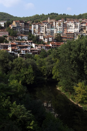 Veliko Tirnovo and river in Bulgaria photo