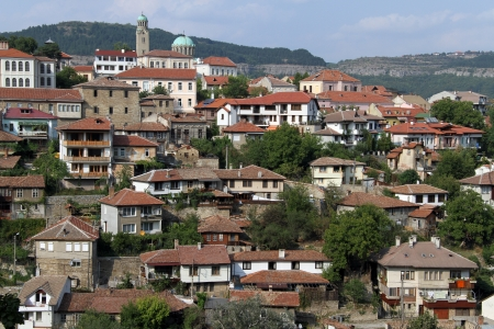 Buildings in Veliko Tirnovo, Bulgaria photo