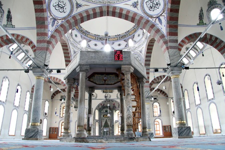 Fountain inside turkish mosque in Kutahya, Turkey