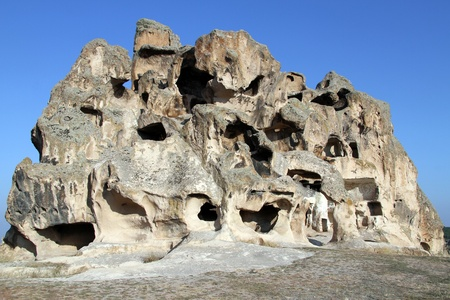 midas: Cave church and rock formations in Midas, Turkey Stock Photo