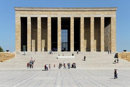 ataturk: Tourists and Ataturk mausoleum in Ankara, Turkey