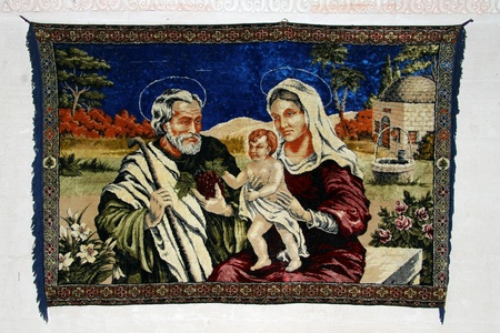 Carpet with Joseph and Virgin Mary  Stock Photo - 16507050
