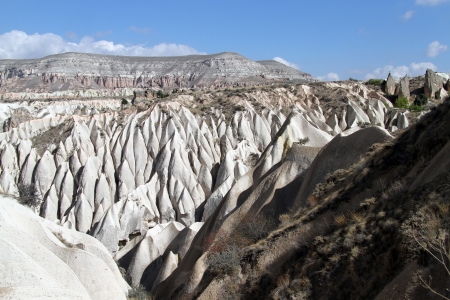 eroded: Mountain near Gereme in Cappadocia, Turkey Stock Photo